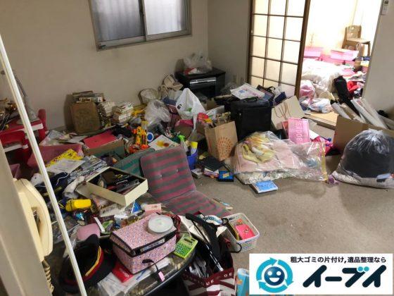 2020年7月29日大阪府大阪市北区でゴミ屋敷化した汚部屋の片付け作業です。写真1