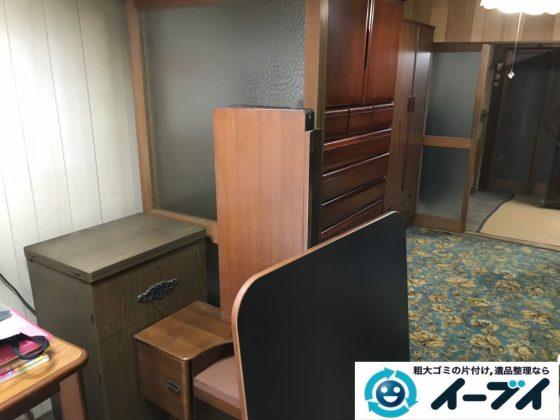 2020年8月07日大阪府大阪市城東区で遺品整理に伴い、婚礼家具など大型家具の粗大ゴミ処分。写真2