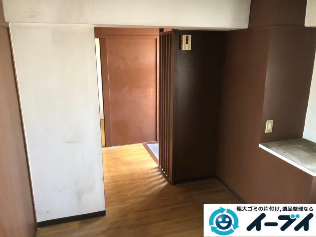 2020年8月11日大阪府堺市南区で退去に伴い、お家の家財道具を一式処分させていただきました。写真3