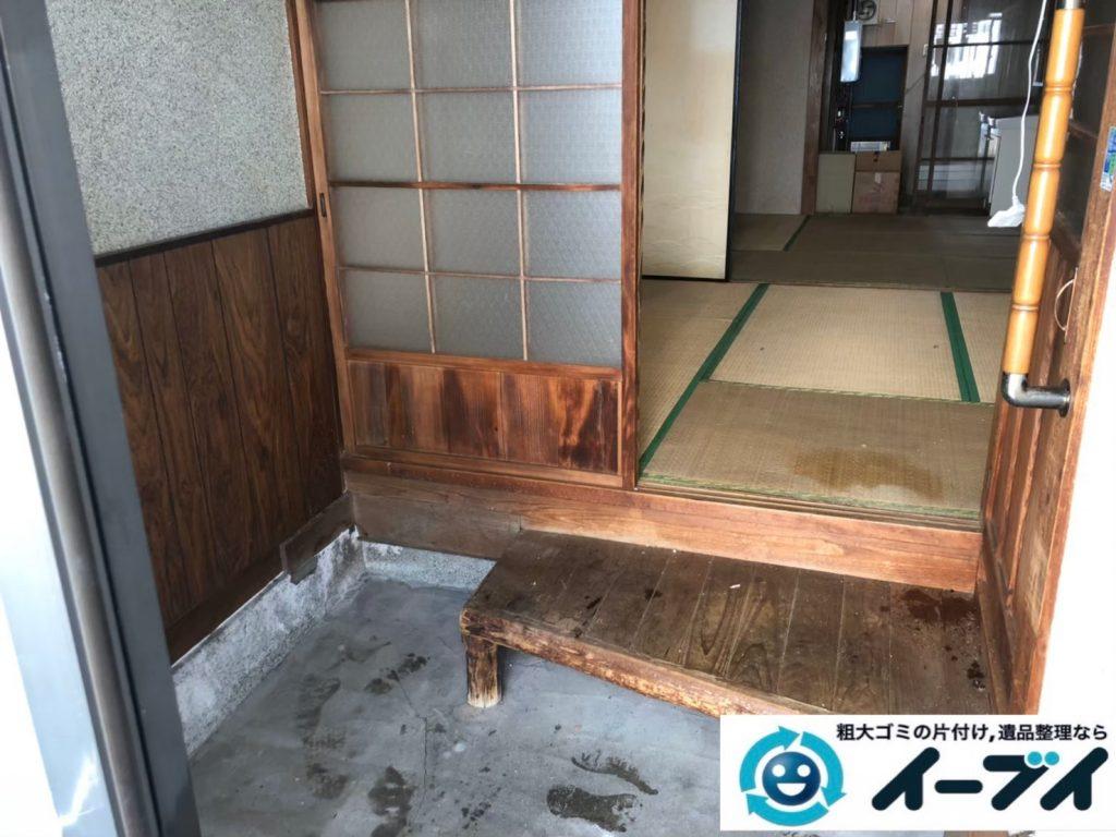 2020年8月12日大阪府大阪市中央区で引越しに伴い、お家の引っ越しゴミや残置物を不用品回収させていただきました。写真2