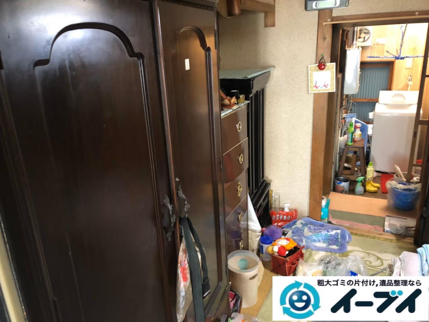 2020年8月13日大阪府大阪市城東区で長年住んだお家の、家財道具を一式処分させていただきました。写真3