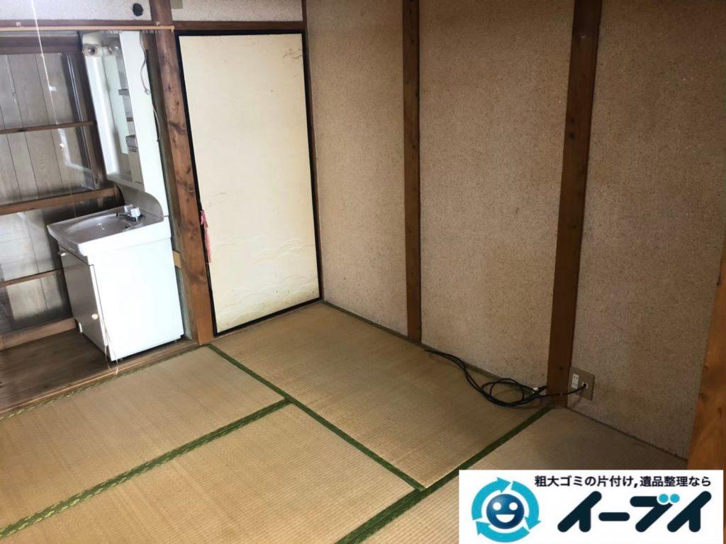 2020年8月13日大阪府大阪市城東区で長年住んだお家の、家財道具を一式処分させていただきました。写真2