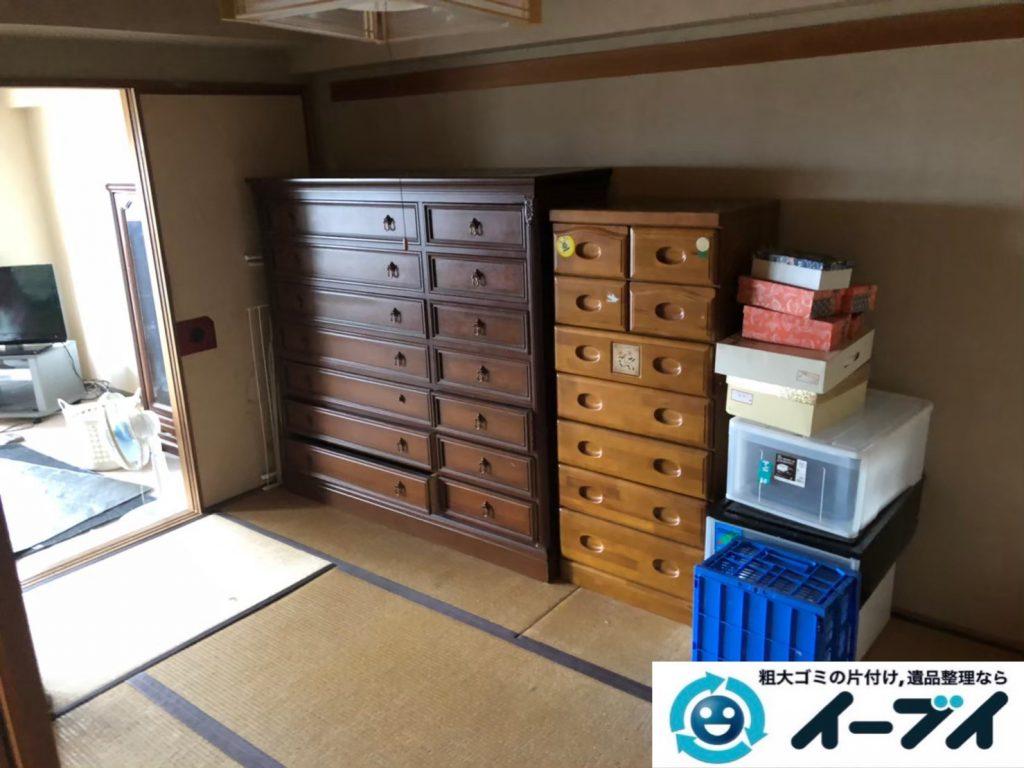 2020年8月19日大阪府大阪市城東区で箪笥や飾り棚の大型家具、テレビの家電の粗大ゴミ処分をさせていただきました。写真4