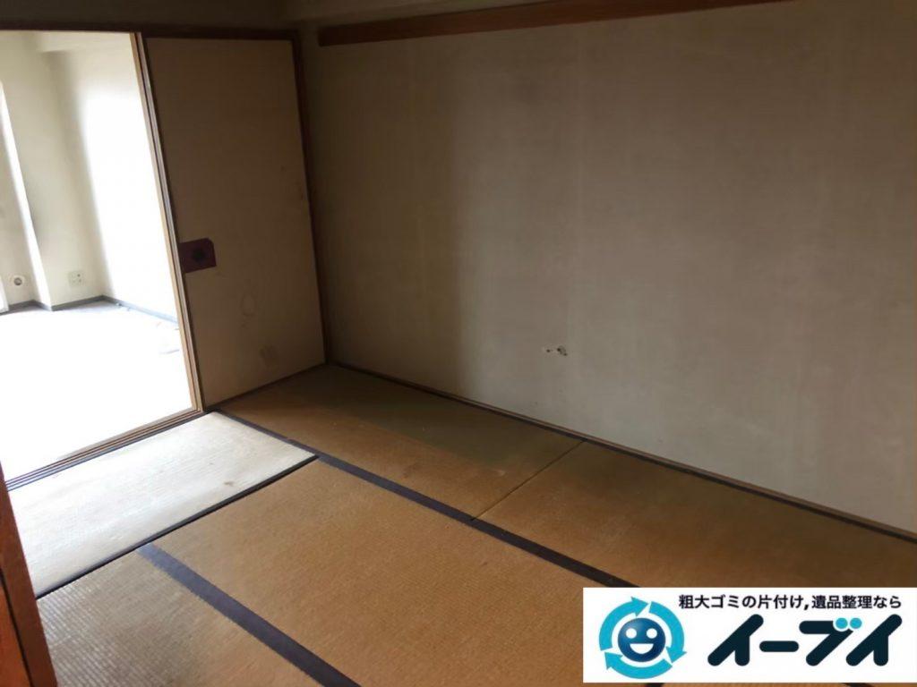 2020年8月19日大阪府大阪市城東区で箪笥や飾り棚の大型家具、テレビの家電の粗大ゴミ処分をさせていただきました。写真3