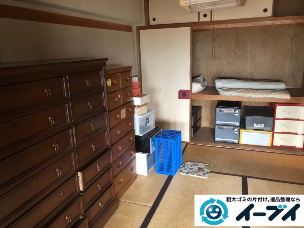 2020年8月19日大阪府大阪市城東区で箪笥や飾り棚の大型家具、テレビの家電の粗大ゴミ処分をさせていただきました。写真2