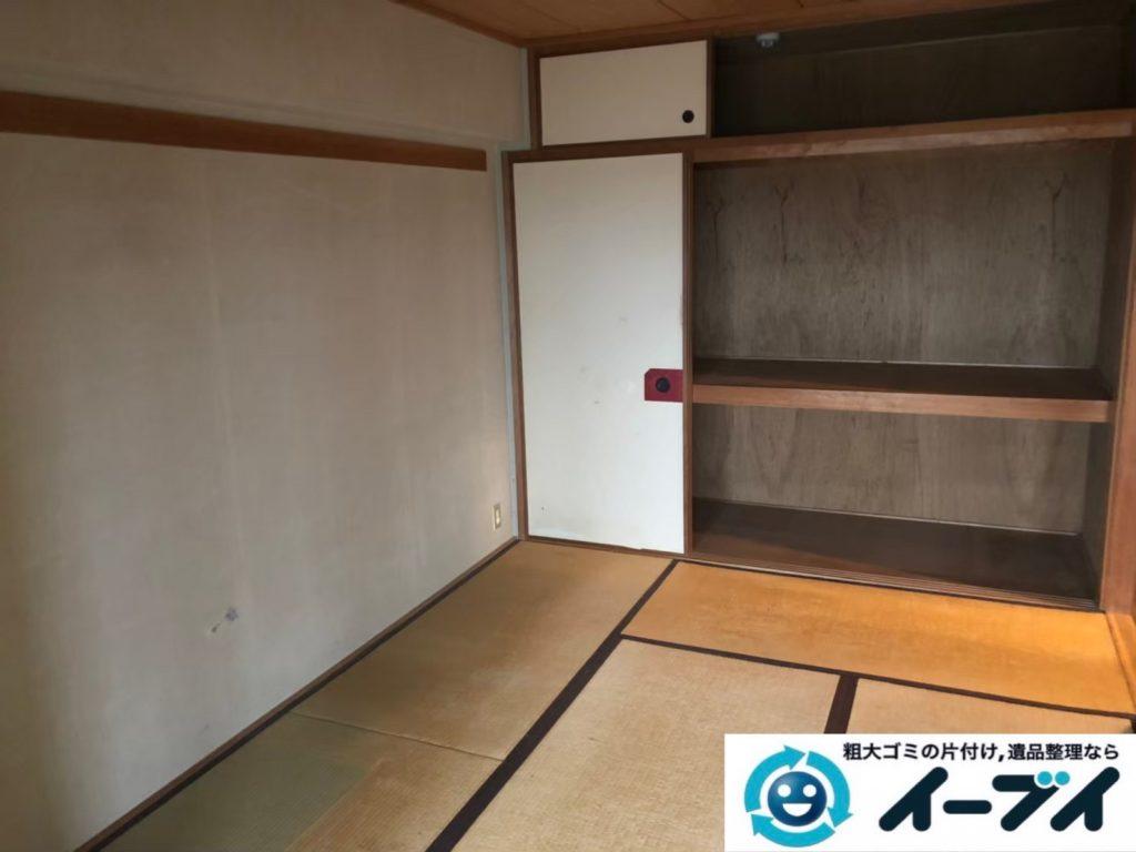 2020年8月19日大阪府大阪市城東区で箪笥や飾り棚の大型家具、テレビの家電の粗大ゴミ処分をさせていただきました。写真1