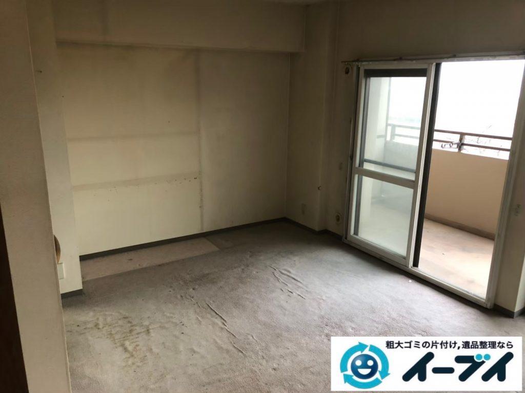 2020年8月21日大阪府大阪市天王寺区で食器棚、ソファの大型家具、エアコン、テレビの家電処分などの不用品回収です。写真3