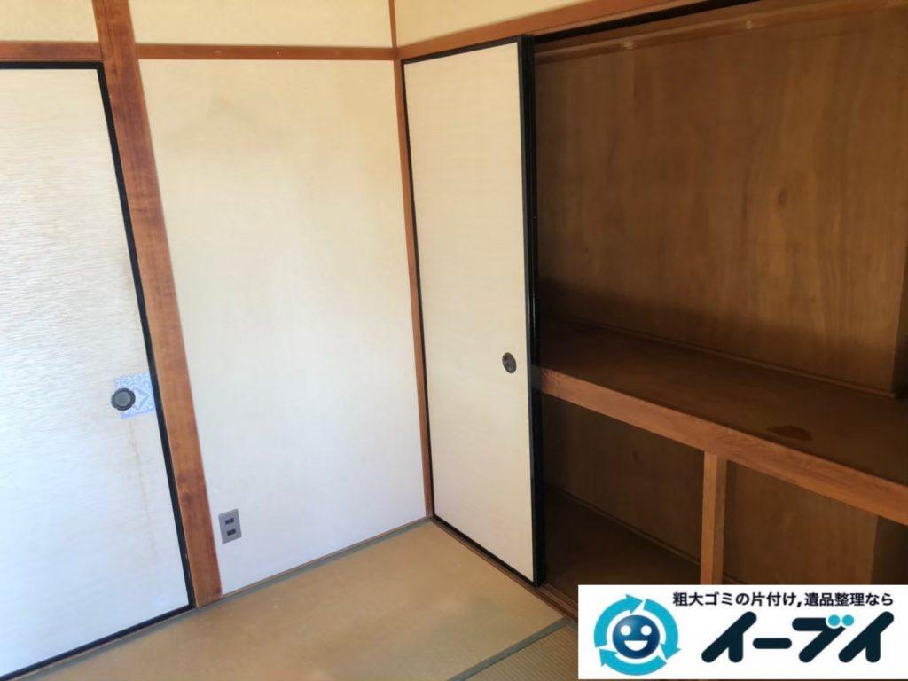 2020年8月26日大阪府大阪市平野区で退居に伴い、お家の残置物を不用品回収させていただきました。写真3