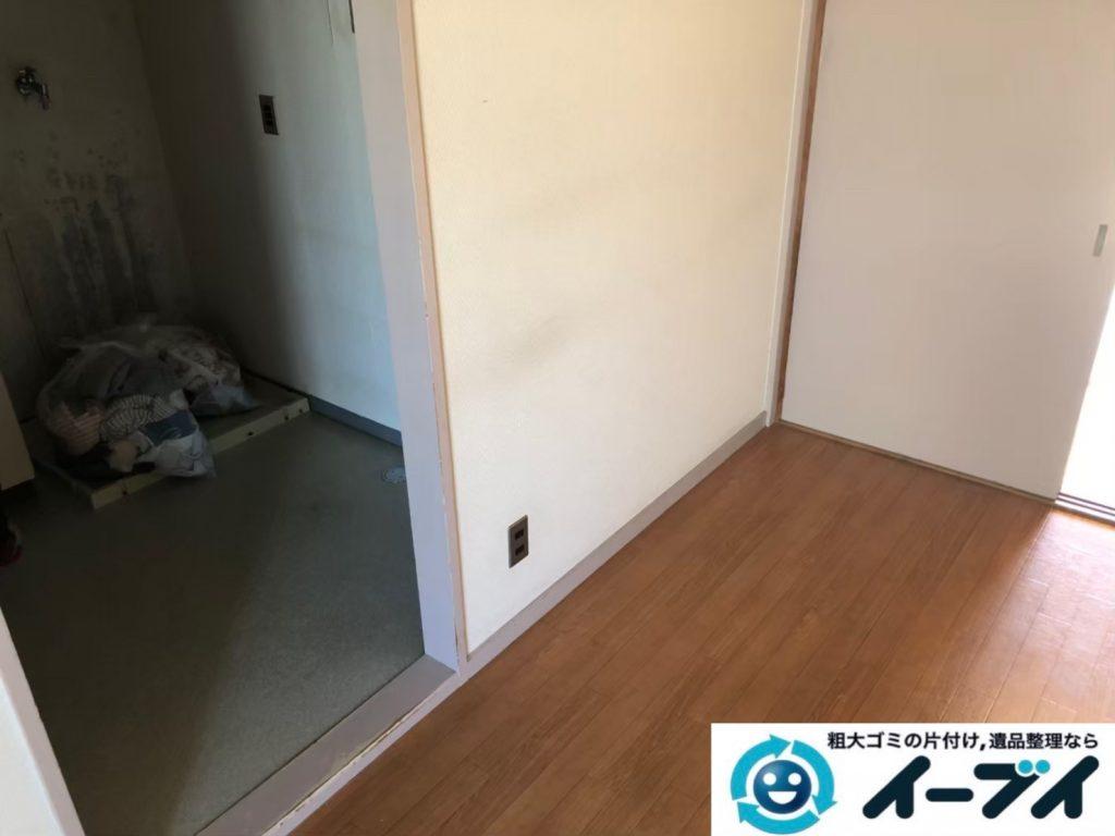2020年8月25日大阪府大阪市東住吉区で洗濯機の大型家電、テレビの家具処分などの不用品回収。写真3
