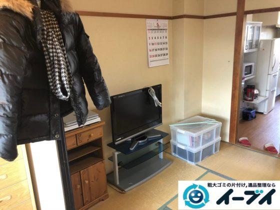 2020年8月25日大阪府大阪市東住吉区で洗濯機の大型家電、テレビの家具処分などの不用品回収。写真2