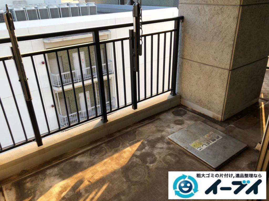 2020年8月27日大阪府大阪市此花区で植木鉢やガーデニング用品などの不用品回収作業。写真4