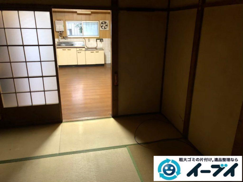 2020年9月1日大阪府大阪市港区で退居に伴い、お家の家財道具を一式処分させていただきました。写真1