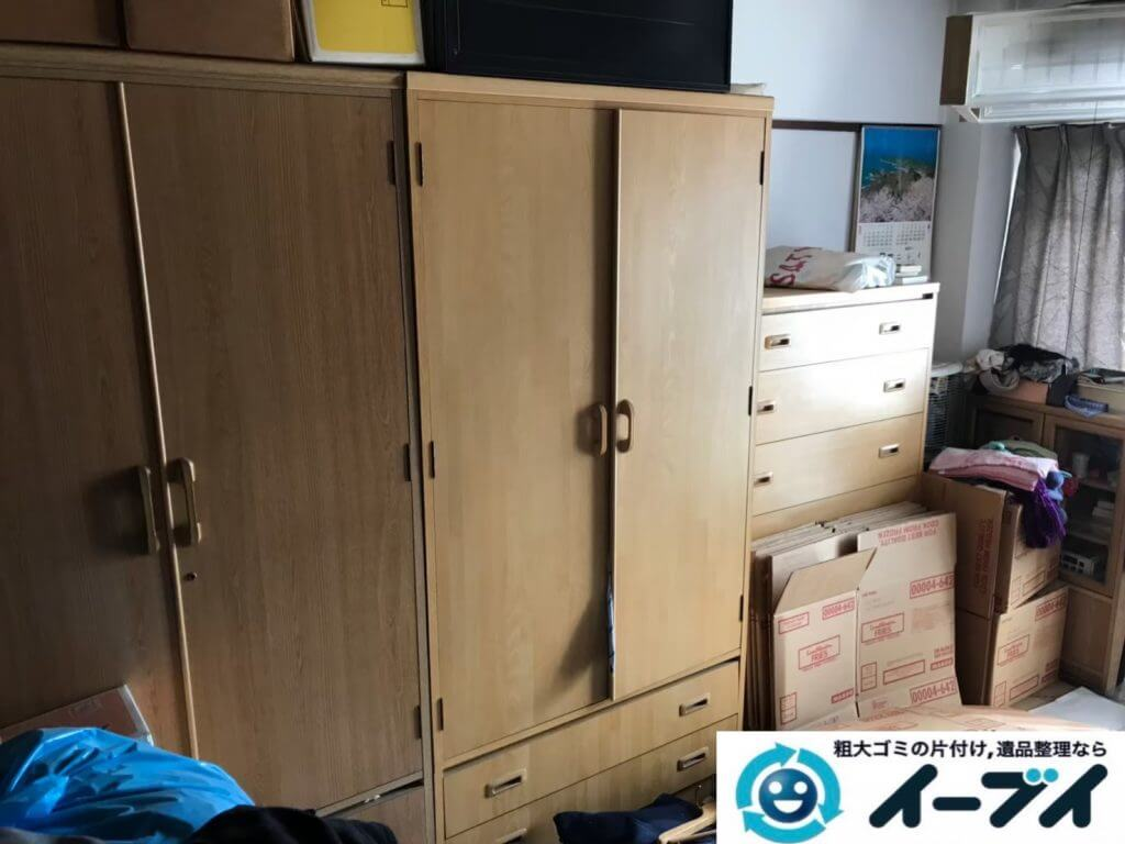 2020年10月1日大阪府堺市堺区で遺品整理に伴い、婚礼家具の大型家具などお家の家財道具を一式処分させていただきました。写真4