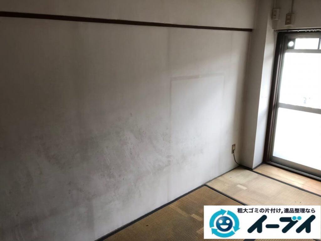 2020年10月1日大阪府堺市堺区で遺品整理に伴い、婚礼家具の大型家具などお家の家財道具を一式処分させていただきました。写真3