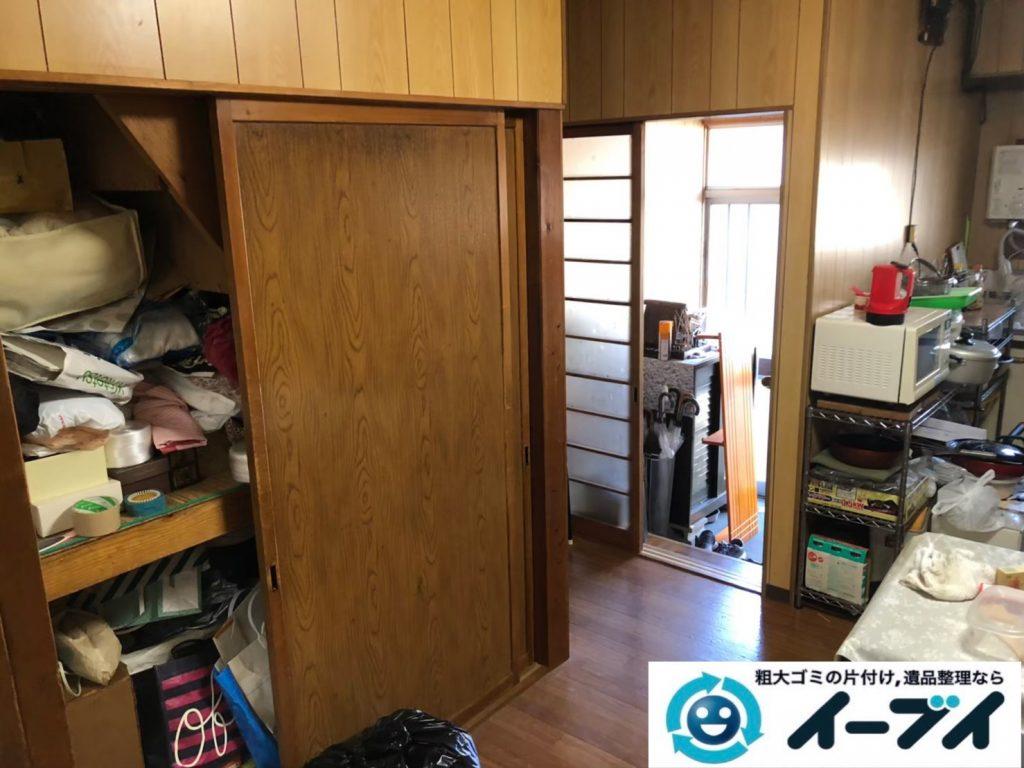 2020年9月3日大阪府大阪市淀川区で家財道具を一式処分の不用品回収をさせていただきました。写真2