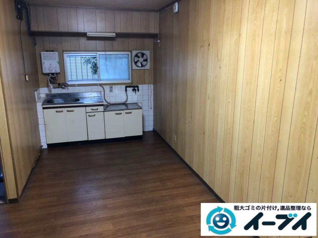 2020年9月3日大阪府大阪市淀川区で家財道具を一式処分の不用品回収をさせていただきました。写真1