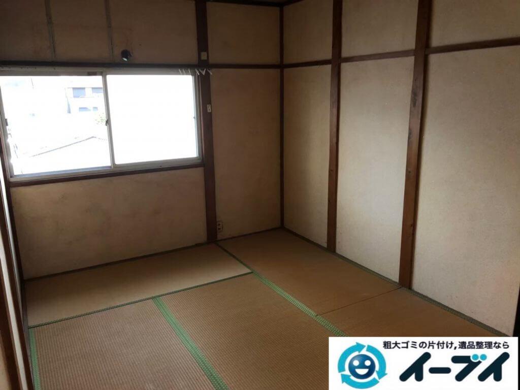 2020年9月4日大阪府大阪市浪速区で退居に伴い、お家の家財道具を一式処分させていただきました。写真2