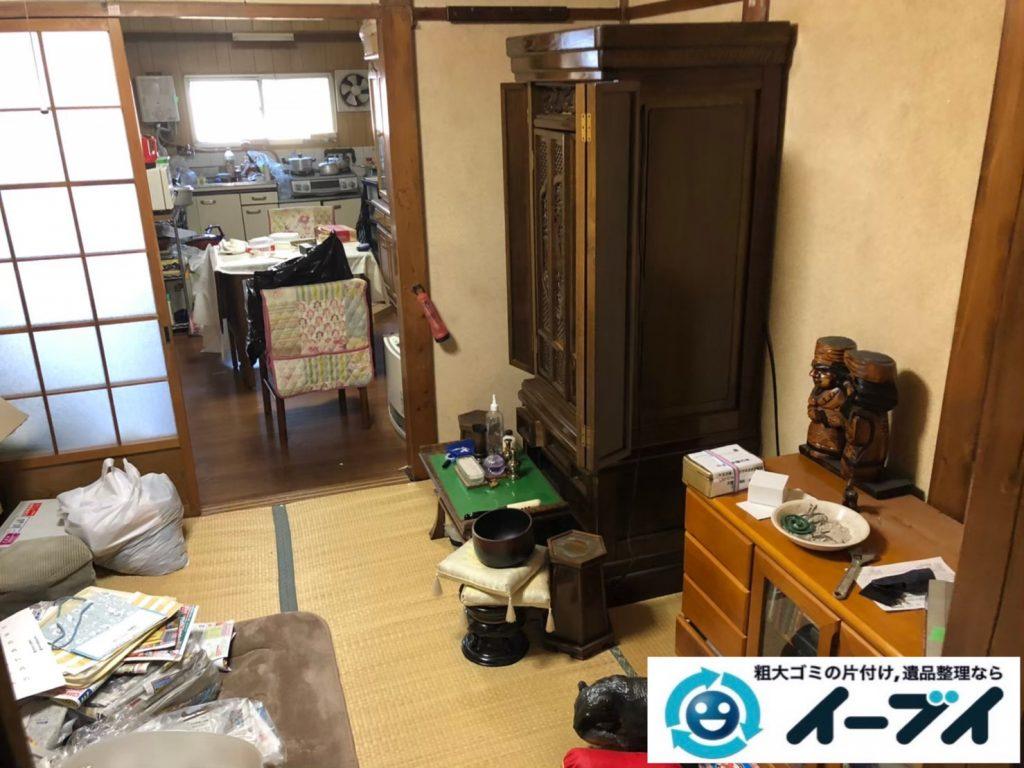 2020年9月3日大阪府大阪市淀川区で家財道具を一式処分の不用品回収をさせていただきました。写真4