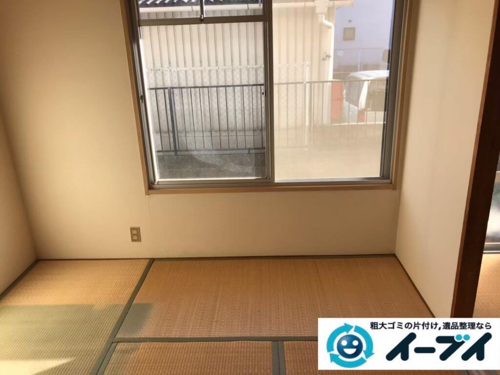 2020年9月16日大阪府大阪市鶴見区で長年住んだお家の家財道具の不用品回収。写真3