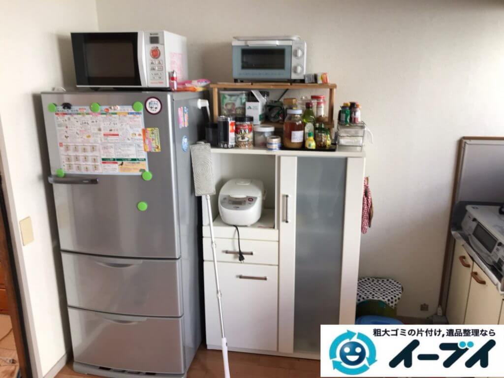2020年9月8日大阪府大阪市生野区で退居に伴い、お家の家財道具を一式処分させていただきました。写真3