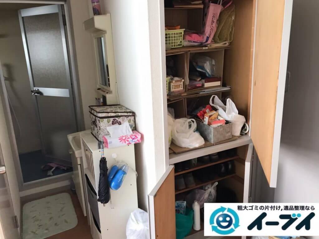 2020年9月8日大阪府大阪市生野区で退居に伴い、お家の家財道具を一式処分させていただきました。写真1