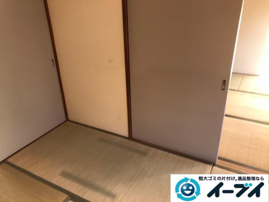 2020年9月7日大阪府大阪市福島区で施設に移動するため、不用なお家の家財道具を一式処分させていただきました。写真2