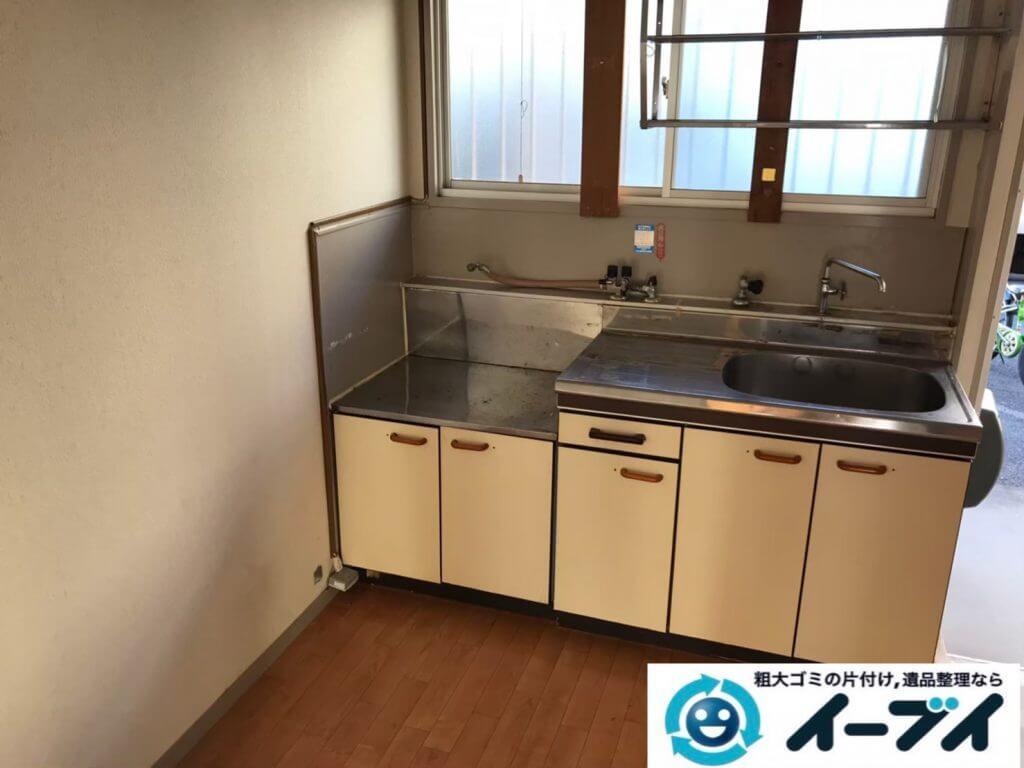 2020年9月9日大阪府大阪市西区で整理箪笥の大型家具、冷蔵庫の大型家電の粗大ゴミ処分をさせていただきました。写真2