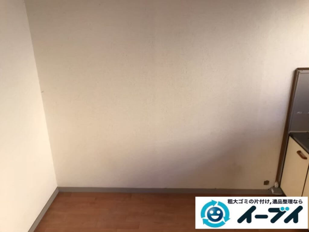 2020年9月8日大阪府大阪市生野区で退居に伴い、お家の家財道具を一式処分させていただきました。写真4