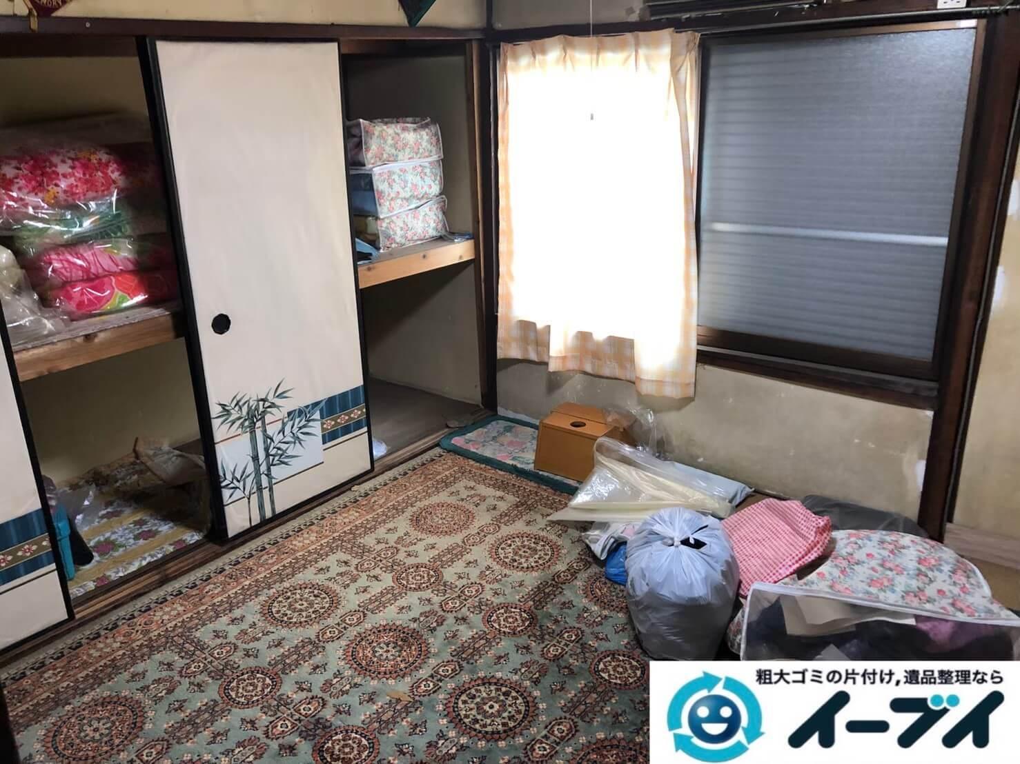 2020年9月16日大阪府大阪市鶴見区で長年住んだお家の家財道具の不用品回収。写真4