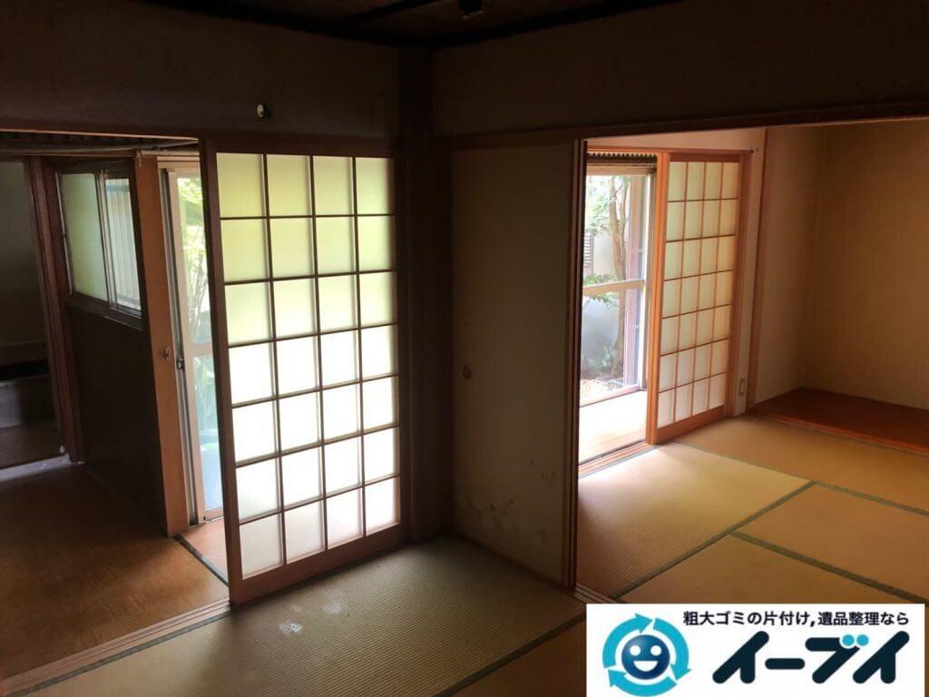 2020年9月10日大阪府大阪市阿倍野区で退居に伴い、お家の家財道具を一式処分させていただきました。写真2