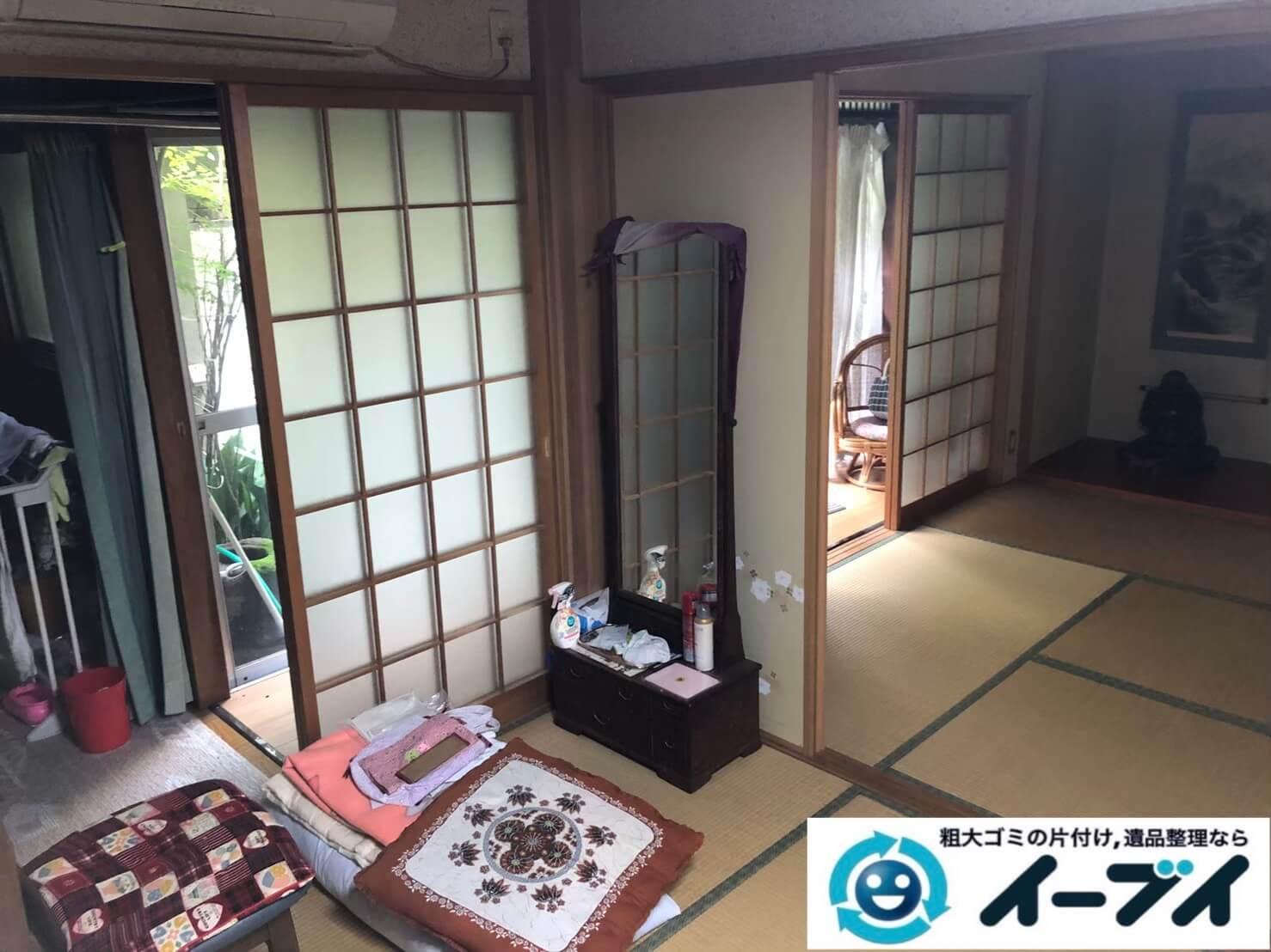 2020年9月10日大阪府大阪市阿倍野区で退居に伴い、お家の家財道具を一式処分させていただきました。写真1