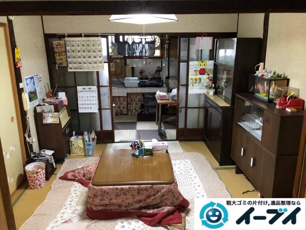 2020年9月15日大阪府大阪市西淀川区で遺品整理に伴い、お家の家財道具を一式処分させていただきました。写真1