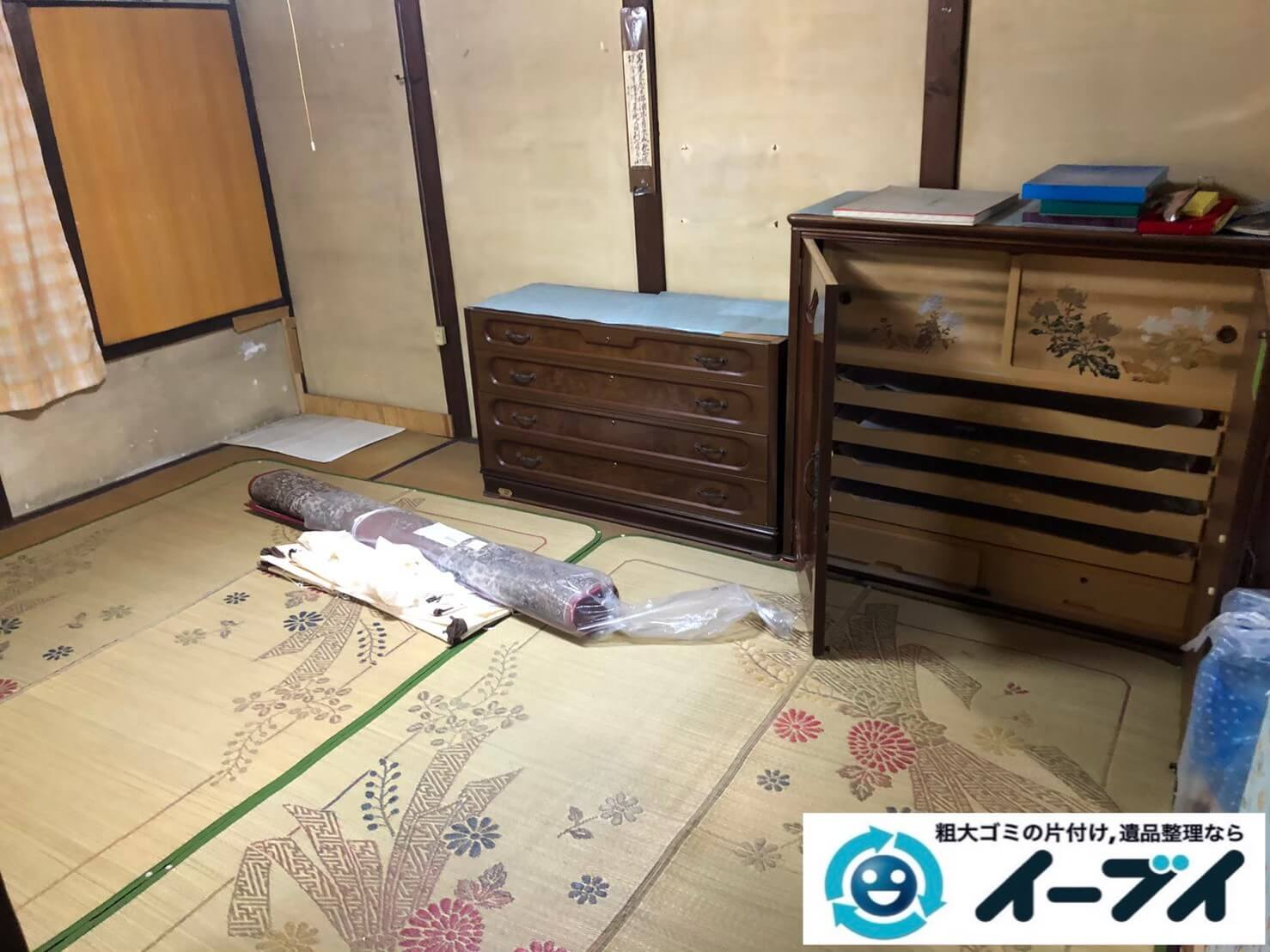 2020年9月17日大阪府大阪市都島区で遺品整理に伴い、お家の家財道具を一式処分させていただきました。写真3