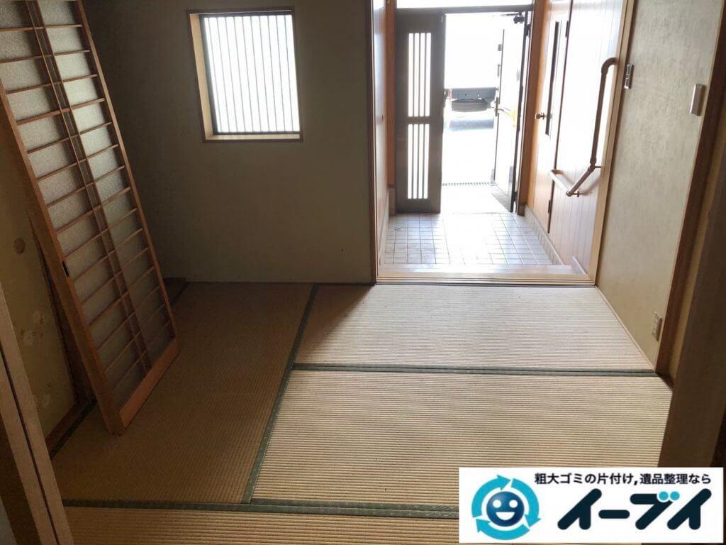 2020年9月14日大阪府大阪狭山市でお家の家財道具を一式処分させていただきました。写真3
