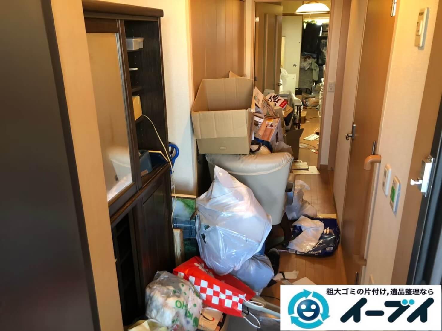 2020年9月18日大阪府守口市でゴミ屋敷化した汚部屋の片付けをさせていただきました。写真1