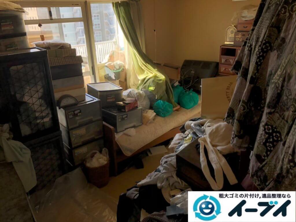 2020年9月23日大阪府富田林市でお家に物やゴミが散乱しゴミ屋敷化した汚部屋の片付け作業です。写真3