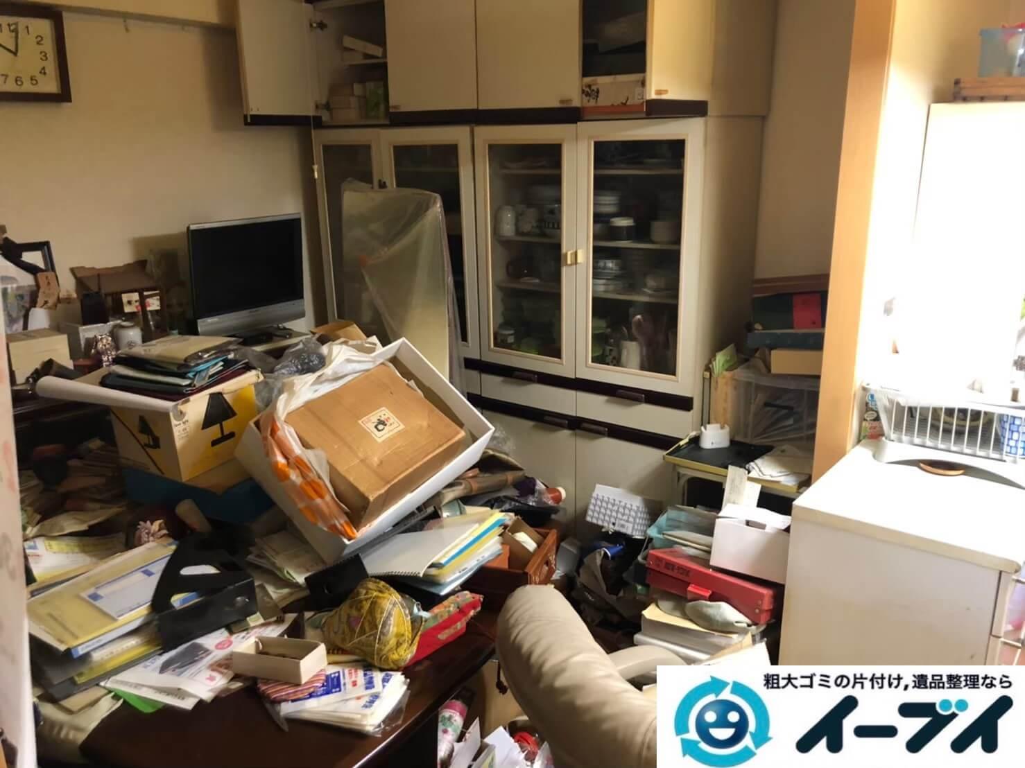 2020年9月23日大阪府富田林市でお家に物やゴミが散乱しゴミ屋敷化した汚部屋の片付け作業です。写真1