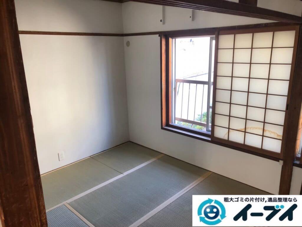 2020年9月29日大阪府島本市で引越し後に残った、引越しゴミの不用品回収をさせていただきました。写真4