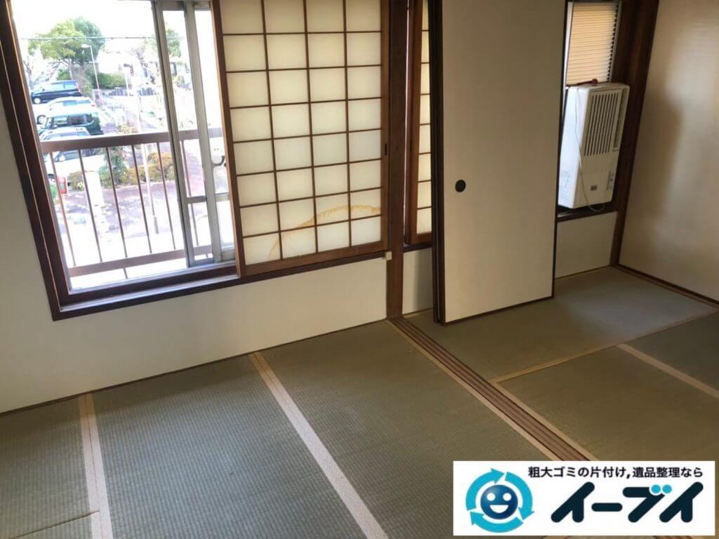 2020年9月29日大阪府島本市で引越し後に残った、引越しゴミの不用品回収をさせていただきました。写真2