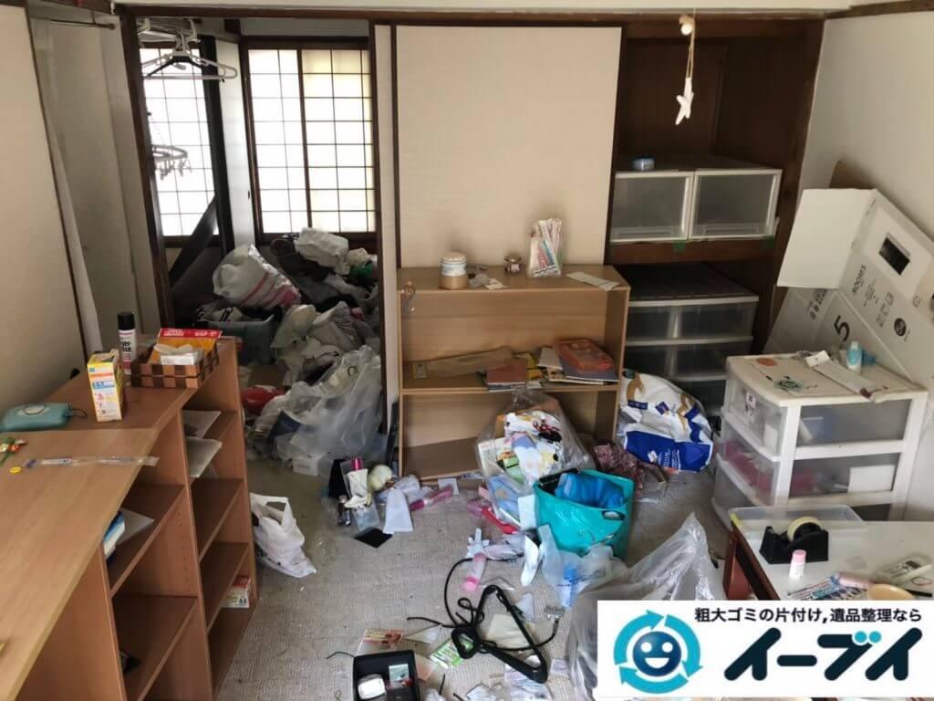 2020年9月25日大阪府岸和田市でゴミ屋敷化したお家の片付け作業です。写真1