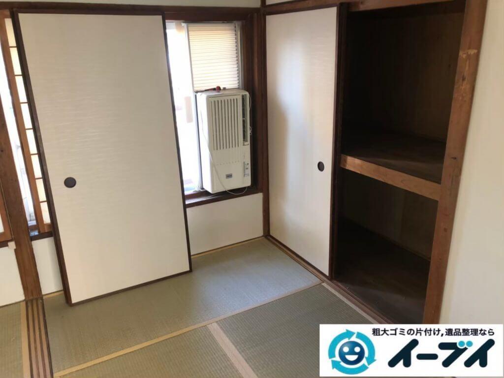 2020年9月28日大阪府摂津市で生活用品や生活ゴミが散乱し、ゴミ屋敷化した汚部屋の片付け作業です。写真2