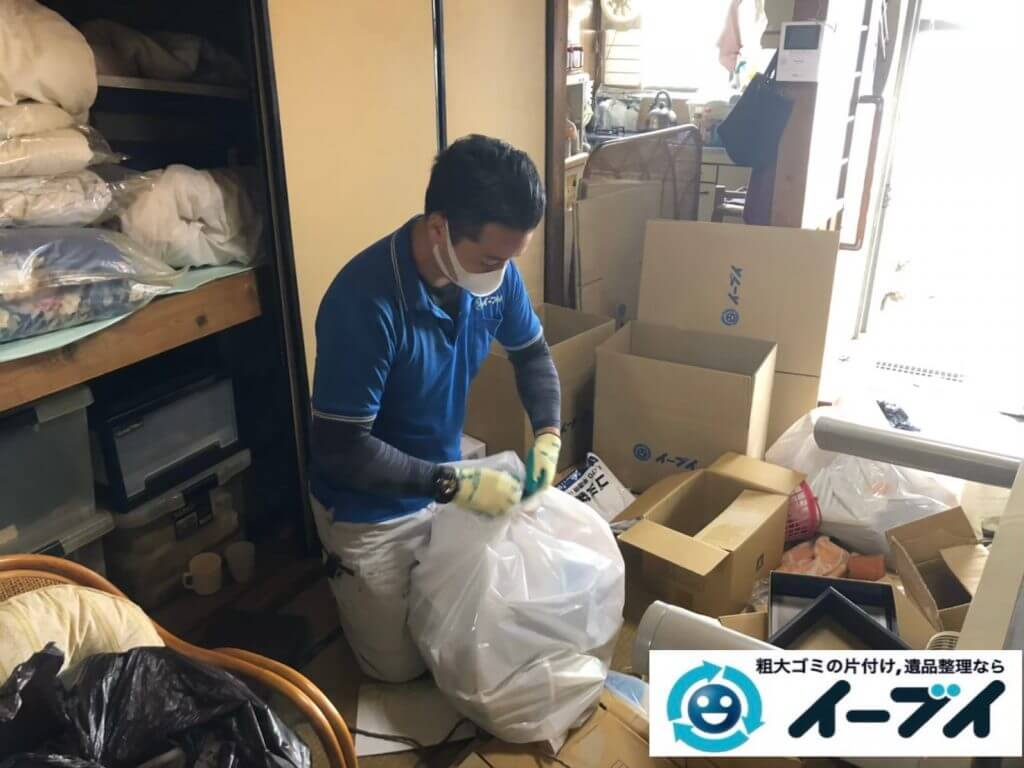 2020年10月2日大阪府大阪市天王寺区でゴミ屋敷化した汚部屋の片付け作業です。写真2
