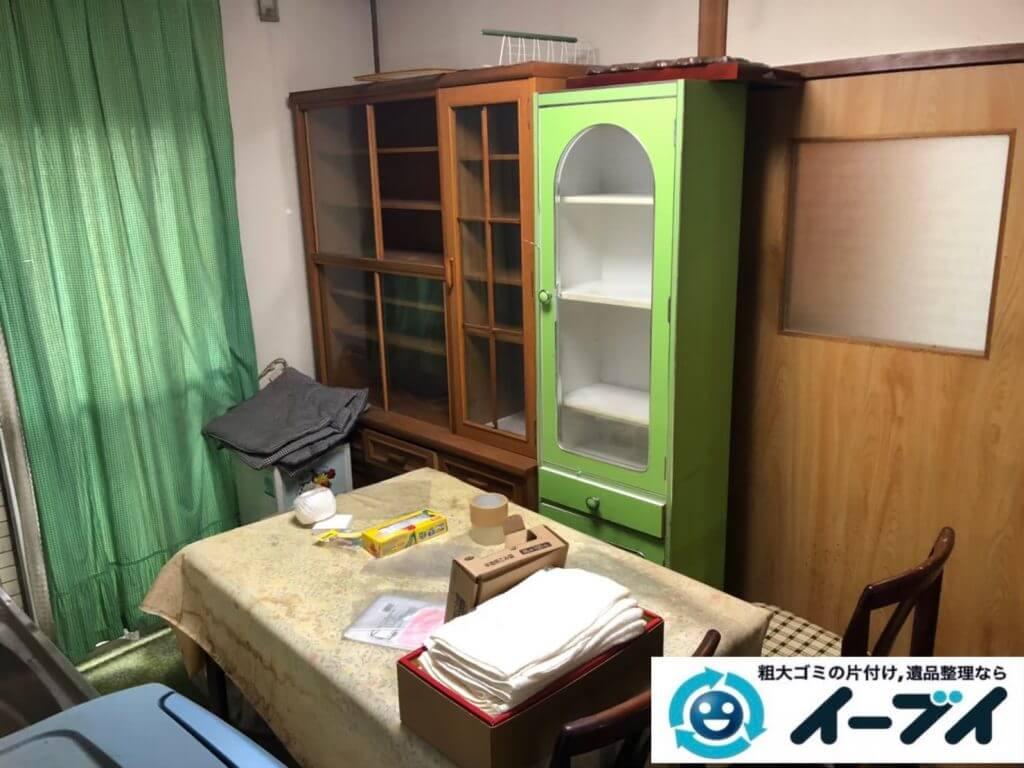 2020年10月6日大阪府忠岡市で婚礼家具や食器棚の大型家具の不用品回収です。写真2