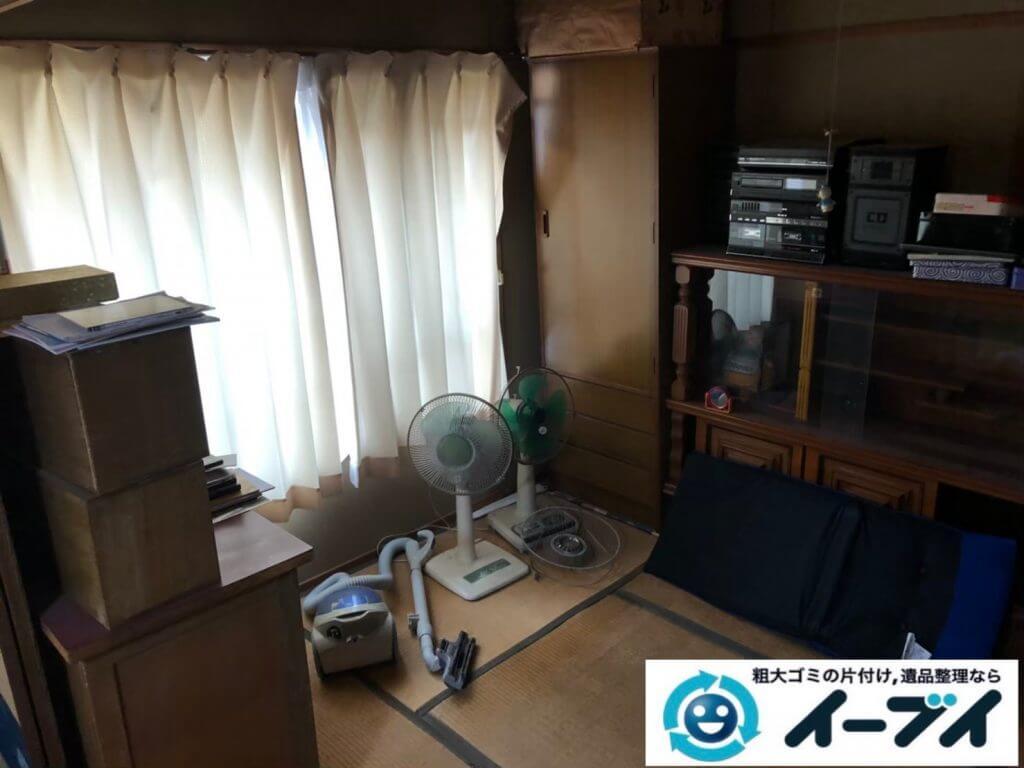 2020年10月5日大阪府松原市で退居に伴い、お家の家財道具などの残置物を不用品回収させていただきました。写真2