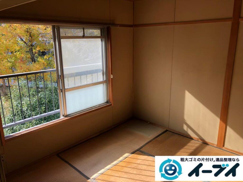 2020年10月5日大阪府松原市で退居に伴い、お家の家財道具などの残置物を不用品回収させていただきました。写真1