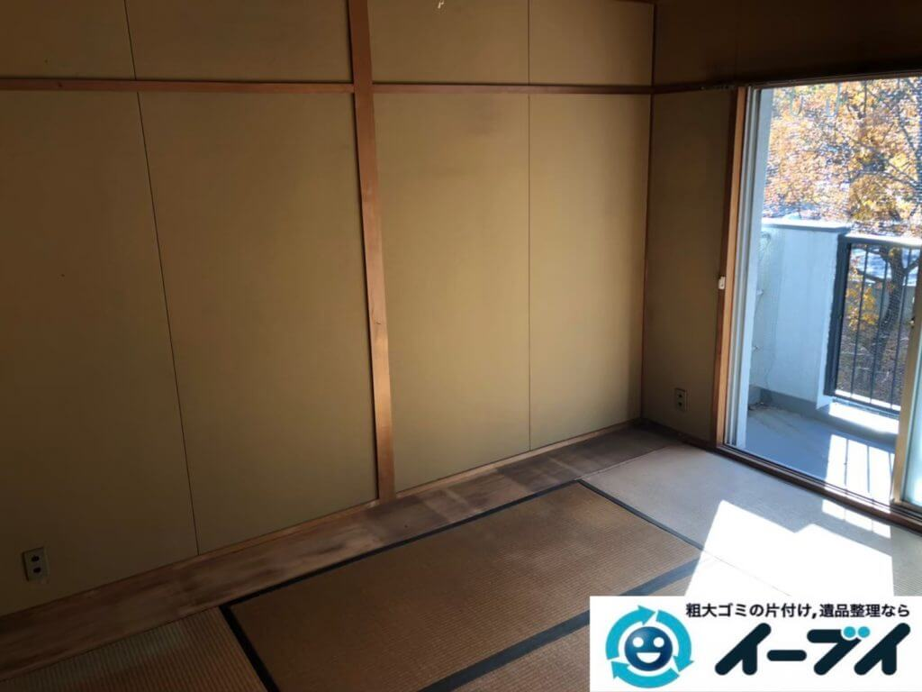 2020年10月6日大阪府忠岡市で婚礼家具や食器棚の大型家具の不用品回収です。写真3
