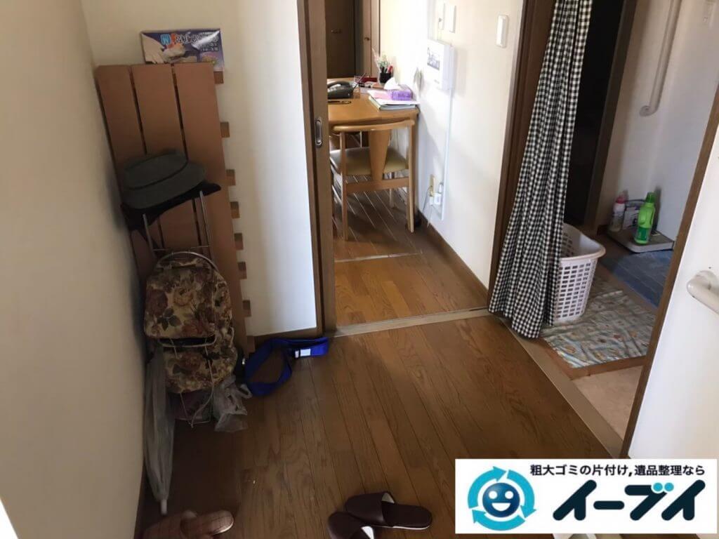 2020年10月9日大阪府大阪市北区で不要になったお家の家財道具を一式処分させていただきました。写真2