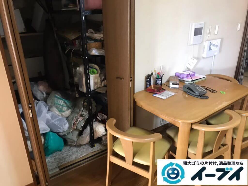 2020年10月13日大阪府柏原市でゴミ屋敷化した汚部屋の片付け作業です。写真3