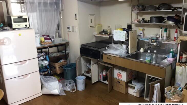2020年10月14日大阪府池田市で引越しに伴い、お家の家財道具を一式処分させていただきました。写真1