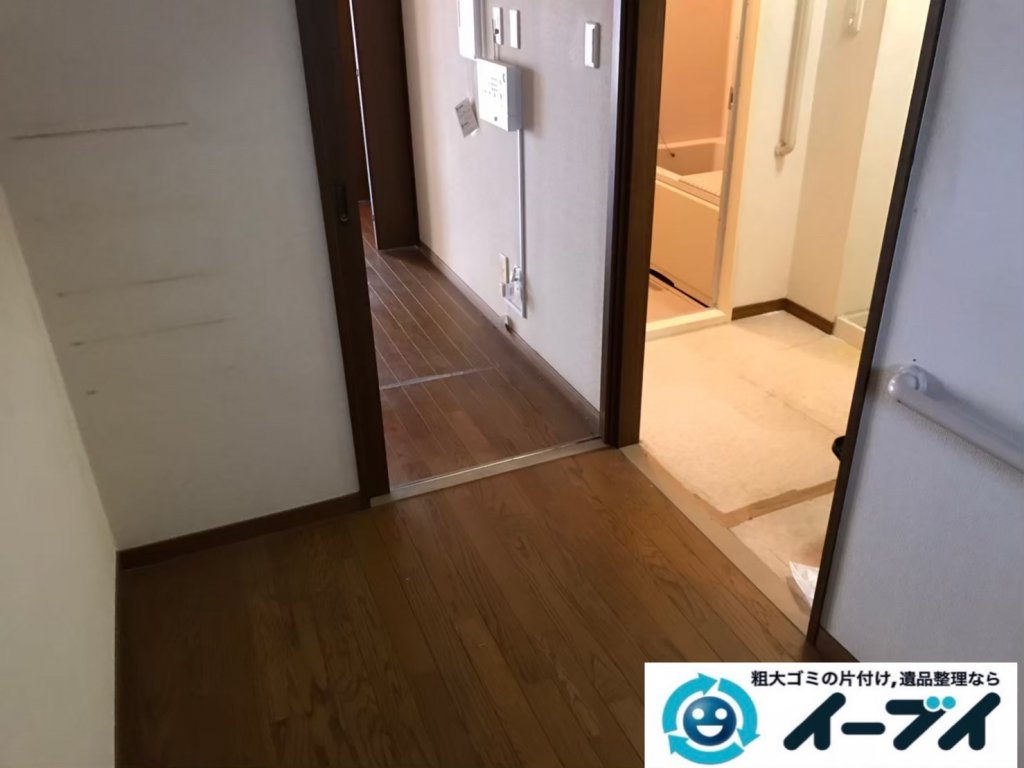 2020年10月20日大阪府河内長野市で遺品整理に伴い、箪笥の大型家具などお家の家財道具を一式処分させていただきました。写真4